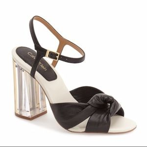Calvin Klein Clear Knot Sandals Laureen Heels US10